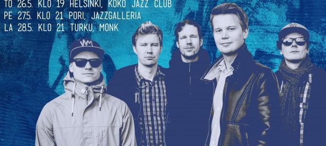 Fifth Avenue Suomen Jazzliiton kiertueella 18.–28.5.2016